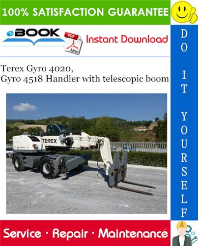 Thumbnail ☆☆ Best ☆☆ Terex Gyro 4020, Gyro 4518 Handler with telescopic boom Service Repair Manual