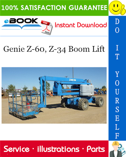 Thumbnail ☆☆ Best ☆☆ Genie Z-60, Z-34 Boom Lift Parts Manual (Serial Number Range: to SN 1089)