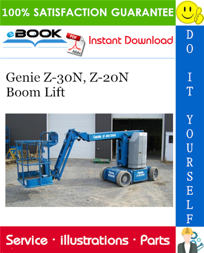 Thumbnail ☆☆ Best ☆☆ Genie Z-30N, Z-20N Boom Lift Parts Manual (Serial Number Range: to SN 1931)
