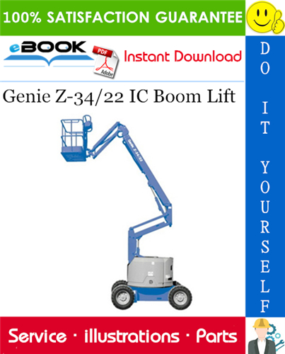 Thumbnail ☆☆ Best ☆☆ Genie Z-34/22 IC Boom Lift Parts Manual (Serial Number Range: to SN 780)