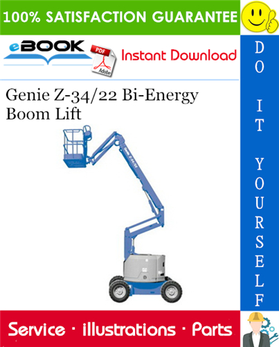 Thumbnail ☆☆ Best ☆☆ Genie Z-34/22 Bi-Energy Boom Lift Parts Manual (Serial Number Range: from SN 001 to 1734)