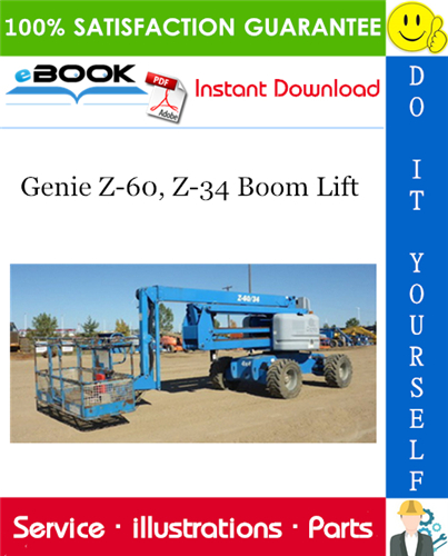 Thumbnail ☆☆ Best ☆☆ Genie Z-60, Z-34 Boom Lift Parts Manual (Serial Number Range: from SN 1090 to 4000 )