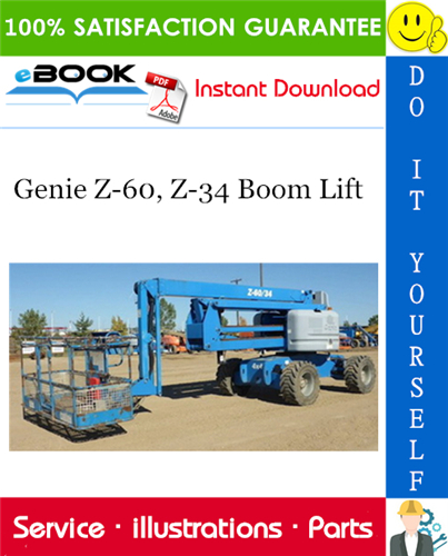 Thumbnail ☆☆ Best ☆☆ Genie Z-60, Z-34 Boom Lift Parts Manual (Serial Number Range: from SN 4551)