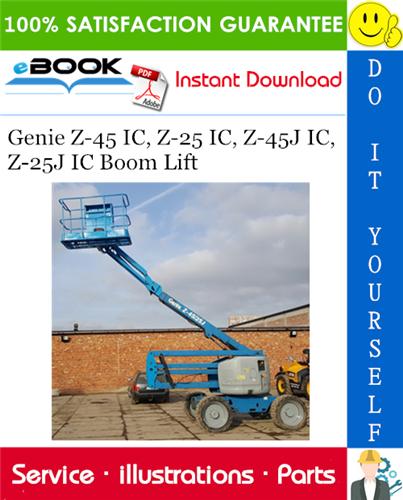 Thumbnail ☆☆ Best ☆☆ Genie Z-45 IC, Z-25 IC, Z-45J IC, Z-25J IC Boom Lift Parts Manual