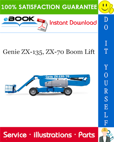 Thumbnail ☆☆ Best ☆☆ Genie ZX-135, ZX-70 Boom Lift Parts Manual (Serial Number Range: from SN 2001)
