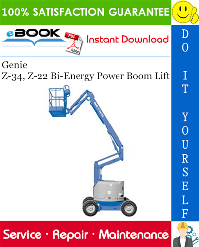 Thumbnail ☆☆ Best ☆☆ Genie Z-34, Z-22 Bi-Energy Power Boom Lift Service Repair Manual (before serial number 4800)