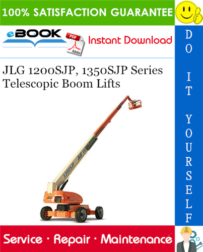 Thumbnail ☆☆ Best ☆☆ JLG 1200SJP, 1350SJP Series Telescopic Boom Lifts Service Repair Manual (P/N - 3121142)