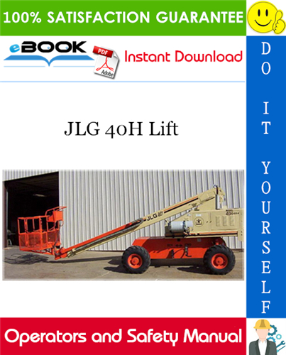 Thumbnail ☆☆ Best ☆☆ JLG 40H Lift Operators and Safety Manual