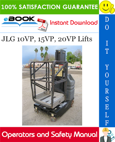 Thumbnail ☆☆ Best ☆☆ JLG 10VP, 15VP, 20VP Lifts Operators and Safety Manual (P/N - 3120848)