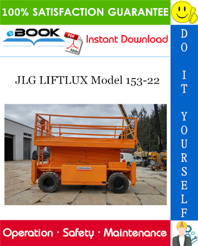 Thumbnail ☆☆ Best ☆☆ JLG LIFTLUX Model 153-22 Operation, Safety, and Maintenance Manual (P/N - 3121327)