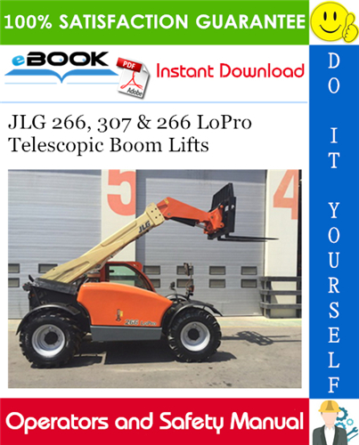Thumbnail ☆☆ Best ☆☆ JLG 266, 307 & 266 LoPro Telescopic Boom Lifts Operation & Safety Manual (P/N - 3126023)