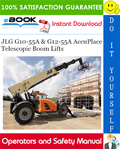 Thumbnail ☆☆ Best ☆☆ JLG G10-55A & G12-55A AccuPlace Telescopic Boom Lifts Operation & Safety Manual (P/N - 3128447)