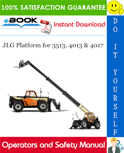 Thumbnail ☆☆ Best ☆☆ JLG Platform for 3513, 4013 & 4017 Operator and Safety Manual (P/N - 31200029)