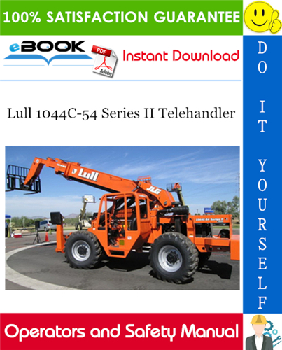 Thumbnail ☆☆ Best ☆☆ Lull 1044C-54 Series II Telehandler Operator and Safety Manual (P/N - 31200070)