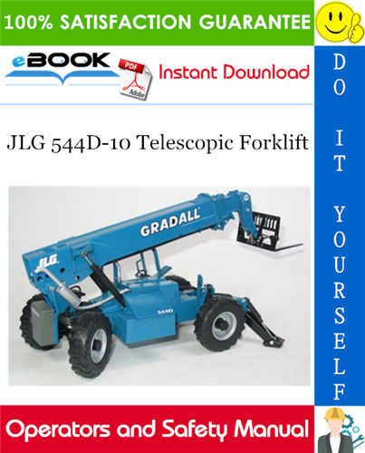Thumbnail ☆☆ Best ☆☆ JLG 544D-10 Telescopic Forklift Operation & Safety Manual (P/N - 31200172)
