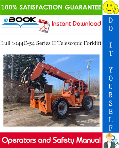 Thumbnail ☆☆ Best ☆☆ Lull 1044C-54 Series II Telescopic Forklift Operation & Safety Manual (P/N - 31200608)