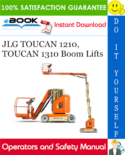 Thumbnail ☆☆ Best ☆☆ JLG TOUCAN 1210, TOUCAN 1310 Boom Lifts Operation and Safety Manual (P/N - 3121186)