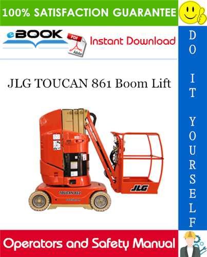 Thumbnail ☆☆ Best ☆☆ JLG TOUCAN 861 Boom Lift Operation and Safety Manual (P/N - 31210044)