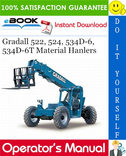 Thumbnail ☆☆ Best ☆☆ Gradall 522, 524, 534D-6, 534D-6T Material Hanlers Owner/Operator Manual