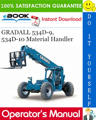 Thumbnail ☆☆ Best ☆☆ GRADALL 534D-9, 534D-10 Material Handler Owner/Operator Manual