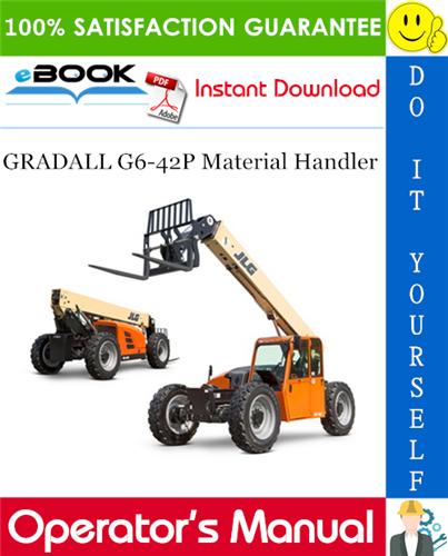 Thumbnail ☆☆ Best ☆☆ GRADALL G6-42P Material Handler Owner/Operator Manual