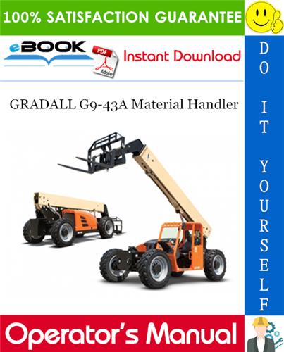Thumbnail ☆☆ Best ☆☆ GRADALL G9-43A Material Handler Owner/Operator Manual