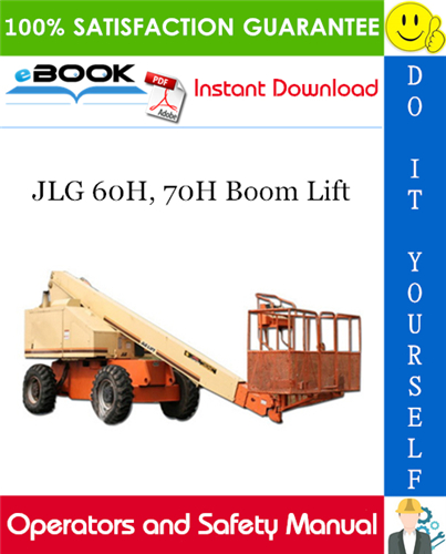 Thumbnail ☆☆ Best ☆☆ JLG 60H, 70H Boom Lift Operators and Safety Manual (P/N - 3120629)