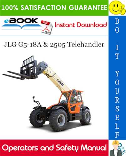 Thumbnail ☆☆ Best ☆☆ JLG G5-18A & 2505 Telehandler Operation and Safety Manual (P/N - 31200359)