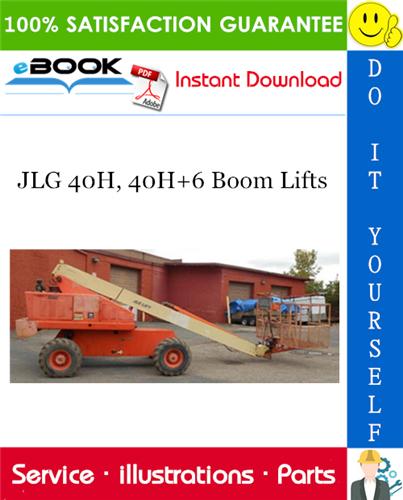 Thumbnail ☆☆ Best ☆☆ JLG 40H, 40H+6 Boom Lifts Illustrated Parts Manual (P/N - 3120241)