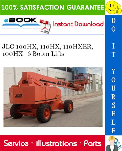 Thumbnail ☆☆ Best ☆☆ JLG 100HX, 110HX, 110HXER, 100HX+6 Boom Lifts Illustrated Parts Manual (P/N 3120637)