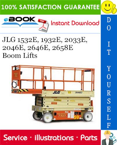 Thumbnail ☆☆ Best ☆☆ JLG 1532E, 1932E, 2033E, 2046E, 2646E, 2658E Boom Lifts Illustrated Parts Manual (P/N 3120726)