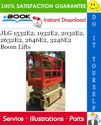 Thumbnail ☆☆ Best ☆☆ JLG 1532E2, 1932E2, 2032E2, 2632E2, 2646E2, 3246E2 Boom Lifts Illustrated Parts Manual (P/N 3120738)