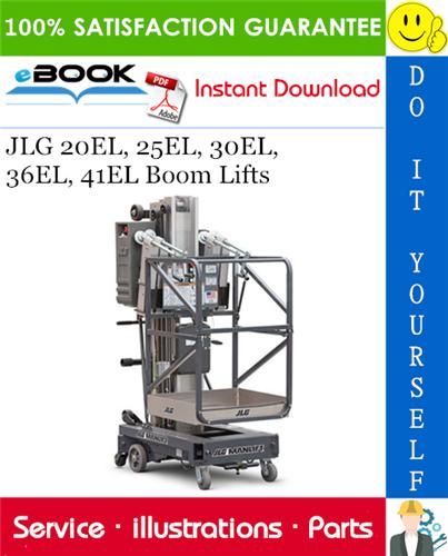 Thumbnail ☆☆ Best ☆☆ JLG 20EL, 25EL, 30EL, 36EL, 41EL Boom Lifts Illustrated Parts Manual (P/N - 3120783)