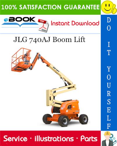 Thumbnail ☆☆ Best ☆☆ JLG 740AJ Boom Lift Illustrated Parts Manual (P/N 3121146)