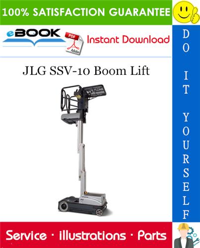 Thumbnail ☆☆ Best ☆☆ JLG SSV-10 Boom Lift Illustrated Parts Manual (P/N - 3121188)