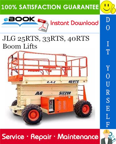 Thumbnail ☆☆ Best ☆☆ JLG 25RTS, 33RTS, 40RTS Boom Lifts Service Repair Manual (P/N - 3120691)