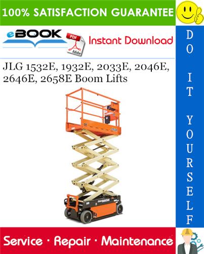 Thumbnail ☆☆ Best ☆☆ JLG 1532E, 1932E, 2033E, 2046E, 2646E, 2658E Boom Lifts Service Repair Manual (P/N - 3120725)