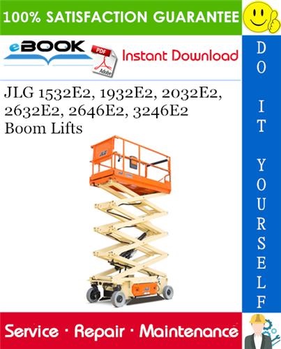 Thumbnail ☆☆ Best ☆☆ JLG 1532E2, 1932E2, 2032E2, 2632E2, 2646E2, 3246E2 Boom Lifts Service Repair Manual (P/N - 3120737)
