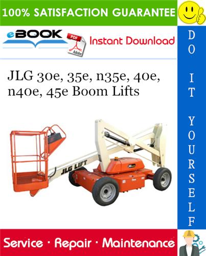 Thumbnail ☆☆ Best ☆☆ JLG 30e, 35e, n35e, 40e, n40e, 45e Boom Lifts Service Repair Manual (P/N - 3120743)