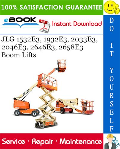 Thumbnail ☆☆ Best ☆☆ JLG 1532E3, 1932E3, 2033E3, 2046E3, 2646E3, 2658E3 Boom Lifts Service Repair Manual (P/N - 3120762)