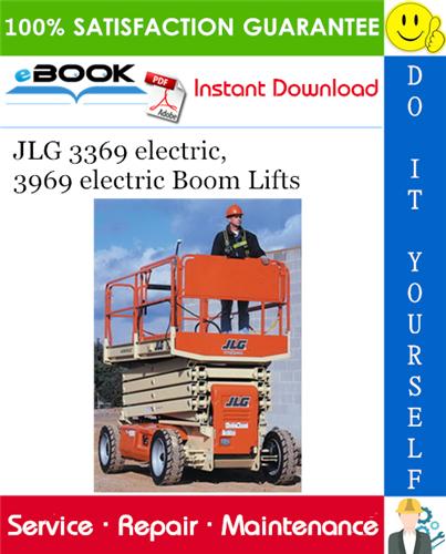 Thumbnail ☆☆ Best ☆☆ JLG 3369 electric, 3969 electric Boom Lifts Service Repair Manual (P/N - 3120768)