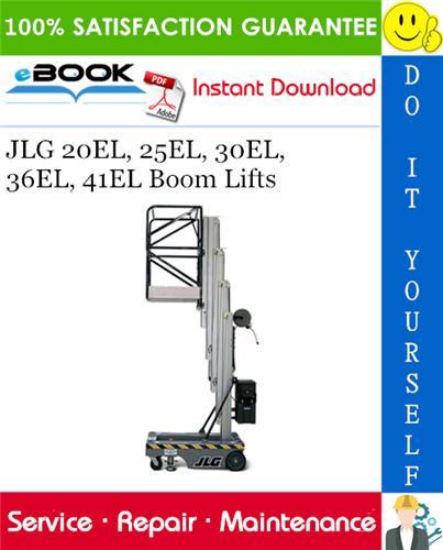 Thumbnail ☆☆ Best ☆☆ JLG 20EL, 25EL, 30EL, 36EL, 41EL Boom Lifts Service Repair Manual (P/N - 3120782)