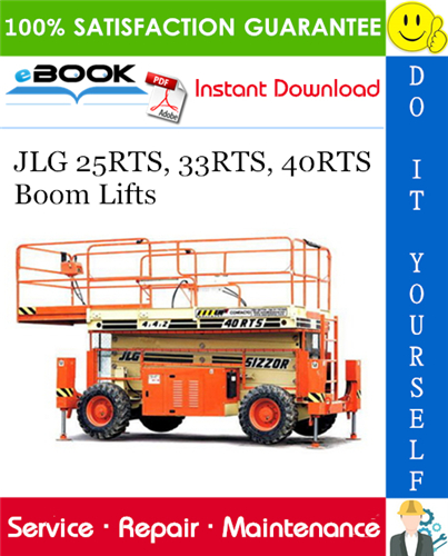Thumbnail ☆☆ Best ☆☆ JLG 25RTS, 33RTS, 40RTS Boom Lifts Service Repair Manual (P/N - 3120826)