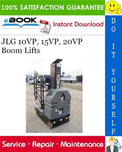 Thumbnail ☆☆ Best ☆☆ JLG 10VP, 15VP, 20VP Boom Lifts Service Repair Manual (P/N - 3120849)