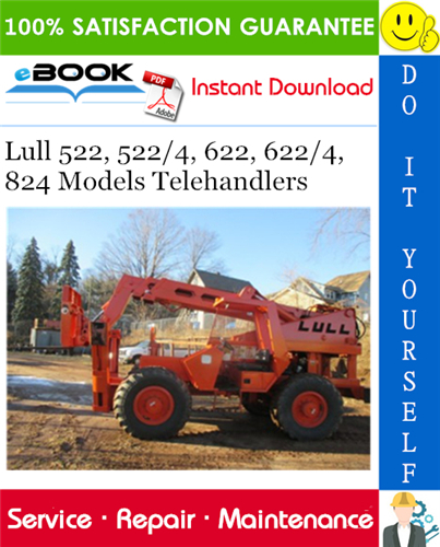 Thumbnail ☆☆ Best ☆☆ Lull 522, 522/4, 622, 622/4, 824 Models Telehandlers Service Repair Manual (P/N - 10709972)