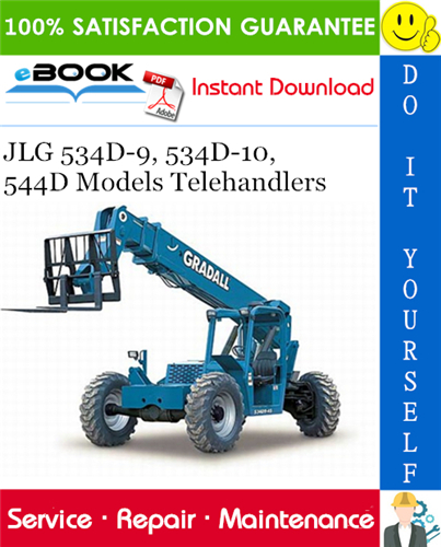 Thumbnail ☆☆ Best ☆☆ JLG 534D-9, 534D-10, 544D Models Telehandlers Service Repair Manual (P/N - 31200170)