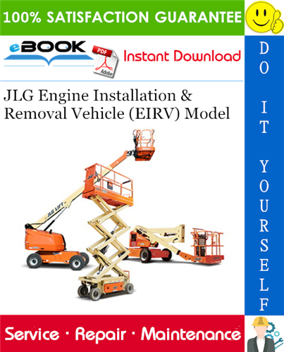 Thumbnail ☆☆ Best ☆☆ JLG Engine Installation & Removal Vehicle (EIRV) Model Service Repair Manual (P/N 31200421)