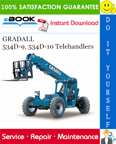 Thumbnail ☆☆ Best ☆☆ GRADALL 534D-9, 534D-10 Telehandlers Service Repair Manual (P/N - 9134-4004)