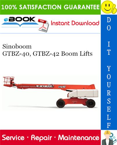 Thumbnail ☆☆ Best ☆☆ Sinoboom GTBZ-40, GTBZ-42 Boom Lifts Service Repair Manual