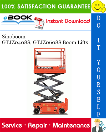 Thumbnail ☆☆ Best ☆☆ Sinoboom GTJZ0408S, GTJZ0608S Boom Lifts Service Repair Manual